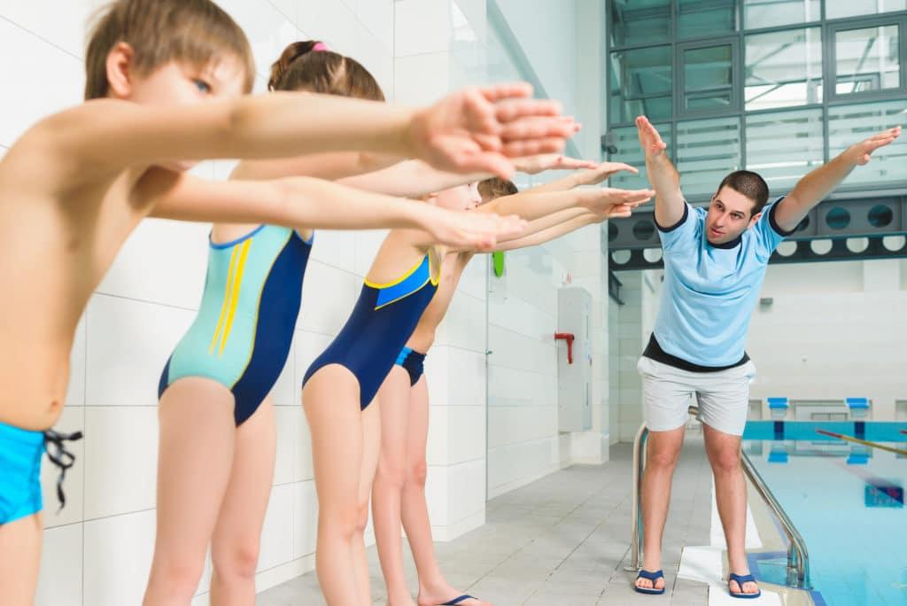 Разминка перед плаванием для детей